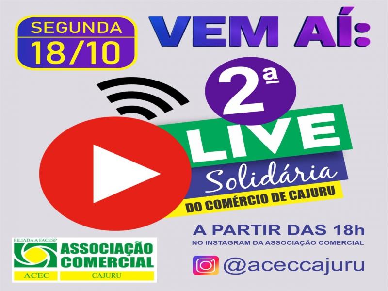 2ª Live Solidaria do Comercio de Cajuru