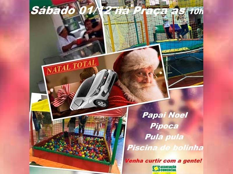 Papai Noel na Praça Largo São Bento